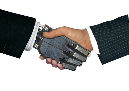 handshake with robot